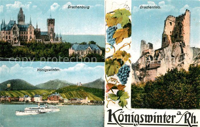 AK / Ansichtskarte Koenigswinter Drachenburg Drachenfels  Kat. Koenigswinter