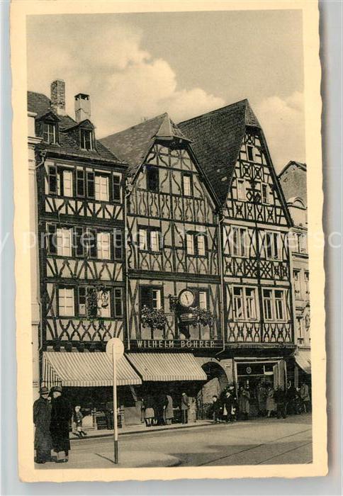 AK / Ansichtskarte Trier Alte Haeuser am Markt Kat. Trier