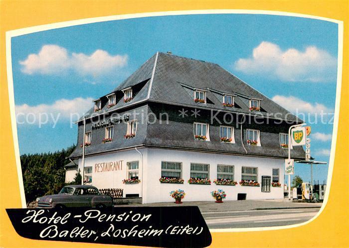 Ak ansichtskarte losheim eifel hotel pension restaurant for Design hotel eifel