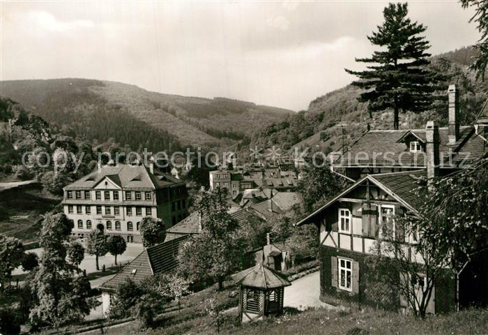 AK / Ansichtskarte Ruhla Teilansicht mit Ernst Thaelmann Schule Kat. Ruhla