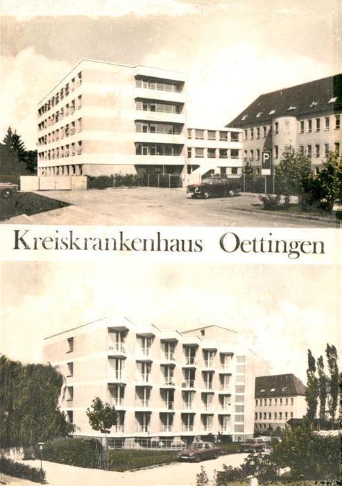 AK / Ansichtskarte Oettingen Kreiskrankenhaus Kat. Oettingen i.Bay.
