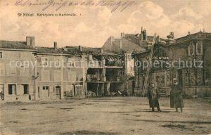 AK / Ansichtskarte Saint Mihiel Marktplatz Markthalle Ruine Kat. Saint Mihiel
