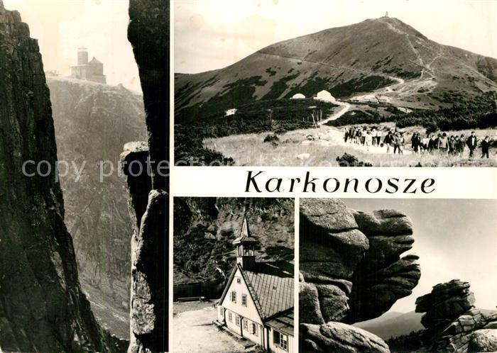 AK / Ansichtskarte Karkonosze Schronisko PTTK Nad Snieznymi Kotlami Berghaeuser Schneekoppe Riesengebirge Wandern Kat. Polen
