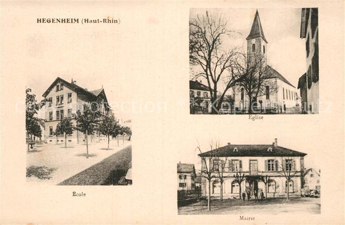 AK / Ansichtskarte Hegenheim Eglise Mairie Ecole  Kat. Hegenheim