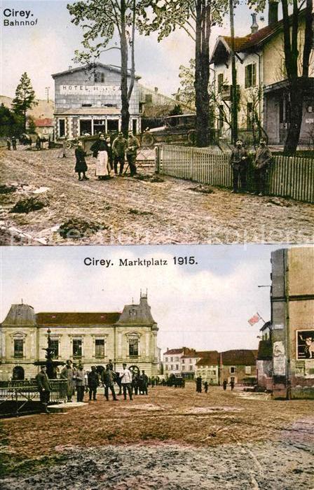 AK / Ansichtskarte Cirey Vesoul Bahnhof Marktplatz  Kat. Cirey