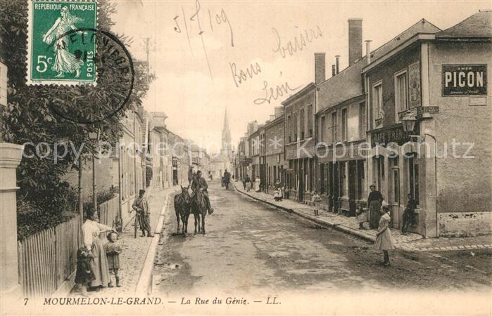 AK / Ansichtskarte Mourmelon le Grand Rue du Genie  Kat. Mourmelon le Grand