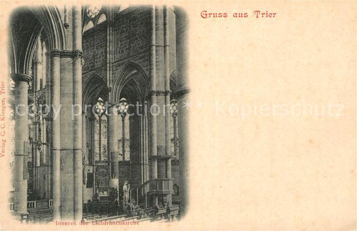AK / Ansichtskarte Trier Liebfrauenkirche Inneres Kat. Trier