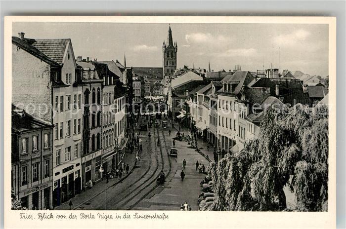 AK / Ansichtskarte Trier Blick von der Porta Nigra in die Simeonstrasse  Kat. Trier