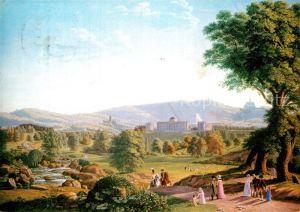 AK / Ansichtskarte Kuenstlerkarte Johann Erdmann Hummel Schloss Wilhelmshoehe Habichtswald um 1800 Kat. Kuenstlerkarte