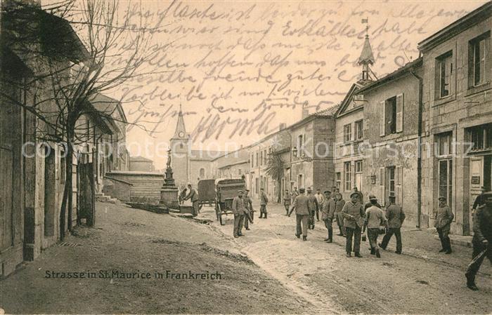 AK / Ansichtskarte Saint Maurice Selestat Erstein Strasse Militaer  Kat. Saint Maurice