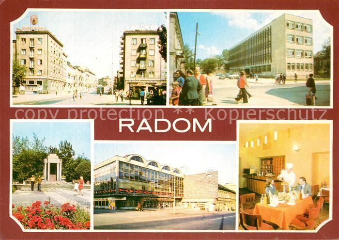 AK / Ansichtskarte Radom Poland Technikum Restaurant Europa