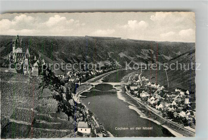 AK / Ansichtskarte Cochem Mosel Panorama Burg Mosel Bruecke Kat. Cochem