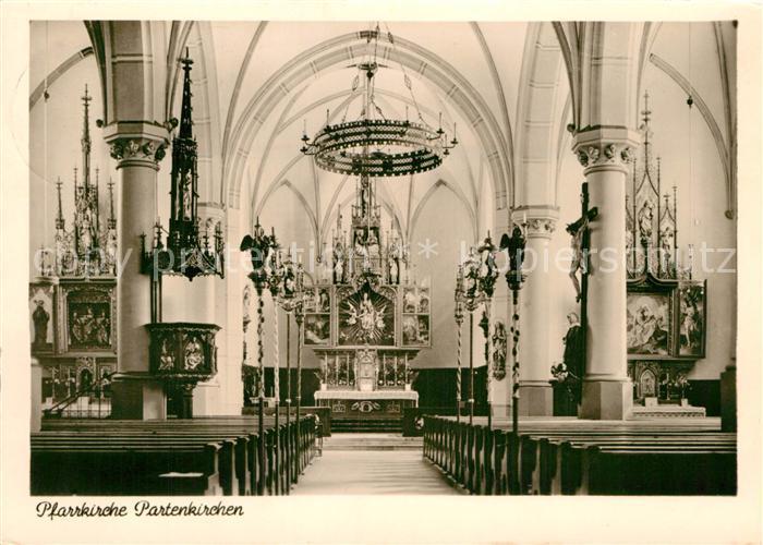 AK / Ansichtskarte Partenkirchen Pfarrkirche Innenansicht Kat. Garmisch Partenkirchen