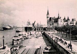 AK / Ansichtskarte Antwerpen Anvers Embarcadere Escaut et le Steen Kat.