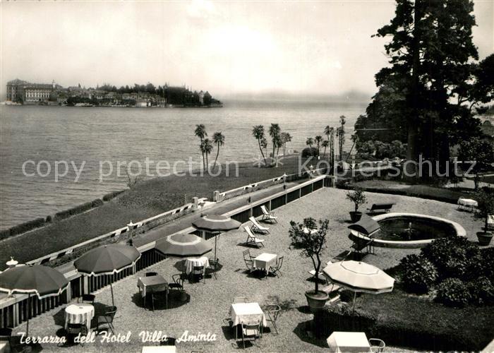 AK / Ansichtskarte Stresa Lago Maggiore Terrazza dell Hotel Villa ...