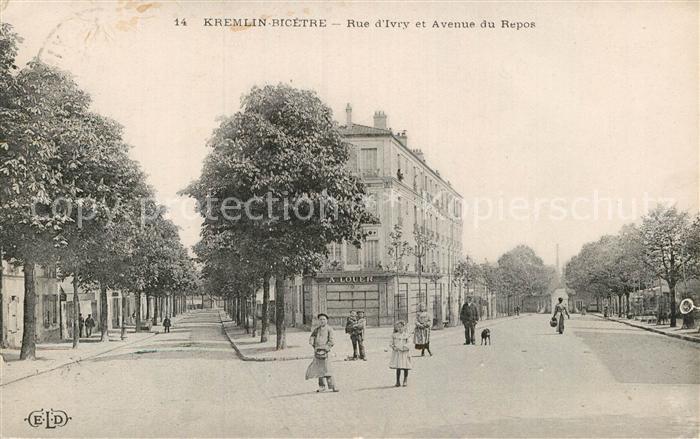 AK / Ansichtskarte Kremlin Bicetre Le Rue Ivry Avenue du Repos  Kat. Le Kremlin Bicetre