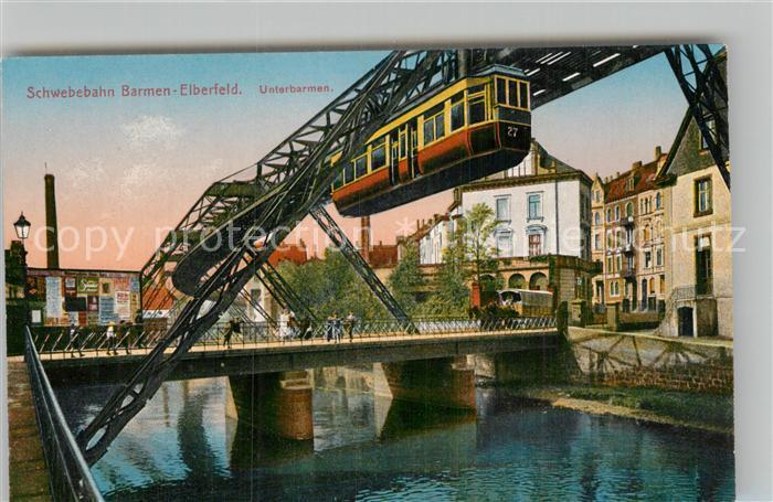 AK / Ansichtskarte Barmen Wuppertal Schwebebahn Barmen Elberfeld Kat. Wuppertal