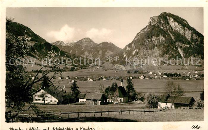 AK / Ansichtskarte Pfronten Blick von Meilingen nach Pfronten Oesch und Dorf Allgaeuer Alpen Kat. Pfronten