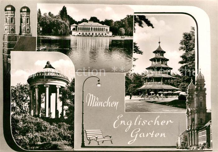 Ak Ansichtskarte Muenchen Englischer Garten Pavillon Chinesischer