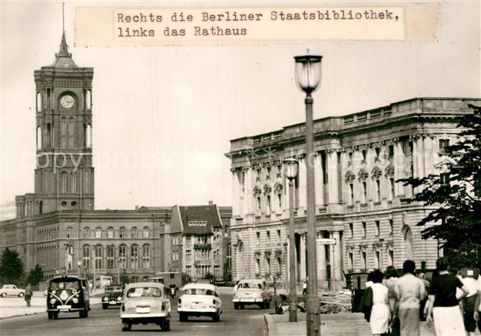 AK / Ansichtskarte Berlin Ost Berlin Stadtbibliothek Rathaus Kat. Berlin