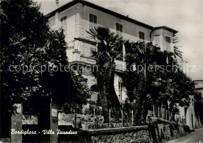 AK / Ansichtskarte Bordighera Villa Paradiso Kat. Bordighera