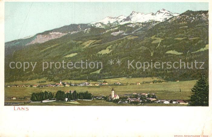 AK / Ansichtskarte Lans Tirol Panorama Kat. Lans
