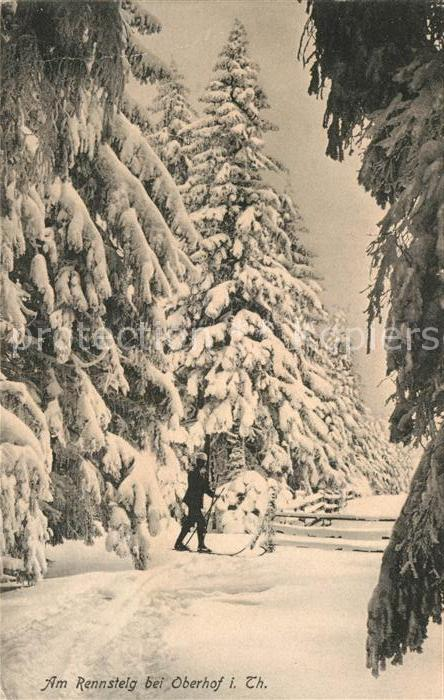 AK / Ansichtskarte Oberhof Thueringen Rennsteig Winter Kat. Oberhof Thueringen