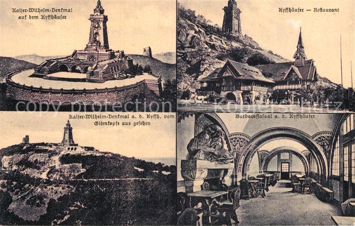 AK / Ansichtskarte Kyffhaeuser Kaiser Wilhelm Denkmal Restaurant Barbarossasaal Kat. Bad Frankenhausen