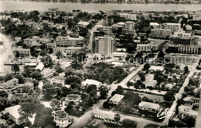 AK / Ansichtskarte Plateau Abidjan Fliegeraufnahme