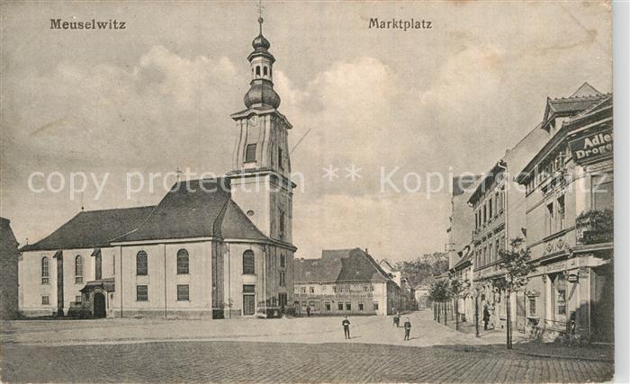 AK / Ansichtskarte Meuselwitz Marktplatz Kat. Meuselwitz Thueringen