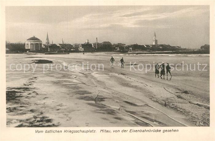 AK / Ansichtskarte Mitau Blick vom Eisenbahnbruecke Kat. Lettland
