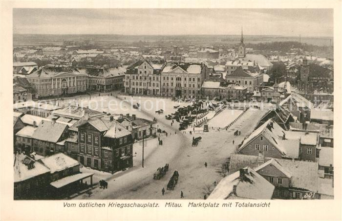 AK / Ansichtskarte Mitau Marktplatz Kat. Lettland