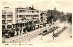 AK / Ansichtskarte Stettin Szczecin Paradeplatz Ufa Palast
