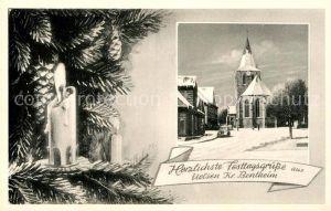 AK / Ansichtskarte Uelsen Kirche Weihnachten Kat. Uelsen