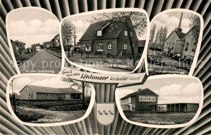 AK / Ansichtskarte Hochmoor Geschaeftshaus H. Vogt Industrieanlage Siedlung  Kat. Gescher