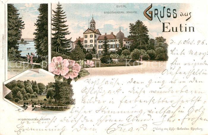 AK / Ansichtskarte Eutin Grossherzogl. Schloss Garten Insel  Kat. Eutin