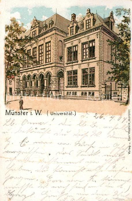 AK / Ansichtskarte Muenster Westfalen Universitaet Kat. Muenster