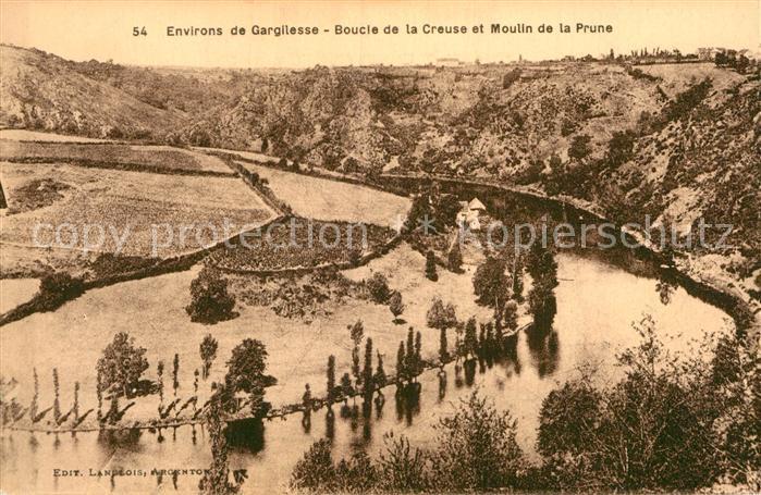 AK / Ansichtskarte Gargilesse Dampierre Boucle de la Creuse et Moulin de la Prune Kat. Gargilesse Dampierre
