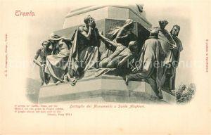 AK / Ansichtskarte Trento Dettaglio del Monumento a Dante Alighieri Kat. Trento