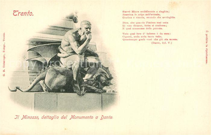 AK / Ansichtskarte Trento Dettaglio del Monumento a Dante Kat. Trento