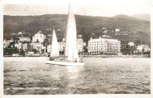 AK / Ansichtskarte Abbazia Bergamo Lungomare Hotel Palace Segelboot Kat. Abbazia