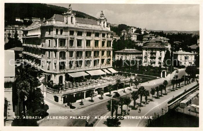 AK / Ansichtskarte Abbazia Bergamo Albergo Palazzo Albergo Continentale Kat. Abbazia