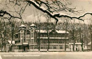 AK / Ansichtskarte Elend Harz FDGB Heim Voelkerfreundschaft im Winter Kat. Elend Harz