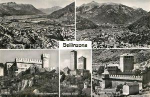 AK / Ansichtskarte Bellinzona Gesamtansicht mit Alpenpanorama Burgen Castello Kat. Bellinzona