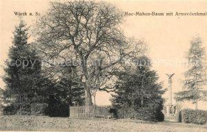 AK / Ansichtskarte Woerth Sauer Mac Mahon Baum mit Armeedenkmal Kat. Woerth