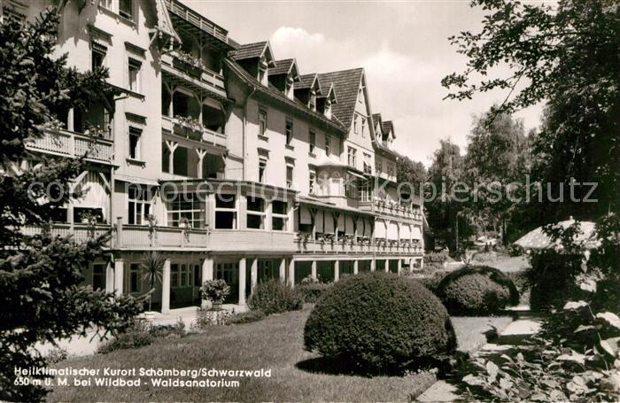 AK / Ansichtskarte Schoemberg Schwarzwald Waldsanatorium Kat. Schoemberg