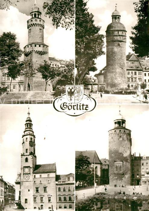 AK / Ansichtskarte Goerlitz Sachsen Reichenbacher Turm Rathaus Nicolaiturm Dicker Turm Kat. Goerlitz