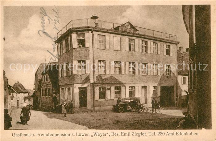 AK / Ansichtskarte Edenkoben Gasthaus z. Loewen Weyer Kat. Edenkoben