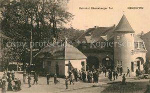 AK / Ansichtskarte Neuruppin Bahnhof Rheinsberger Tor  Kat. Neuruppin