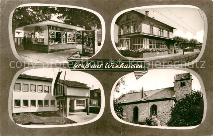 AK / Ansichtskarte Wixhausen Bahnhof Kiosk  Kat. Darmstadt